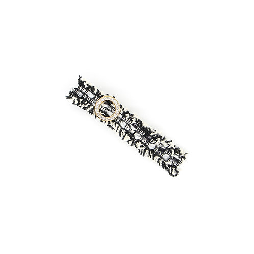 Chateau Collection: Crystal Ring Leah Alligator Clip (Large)