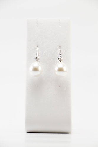 The Pinnacles Collection - White Shell Pearl Earrings