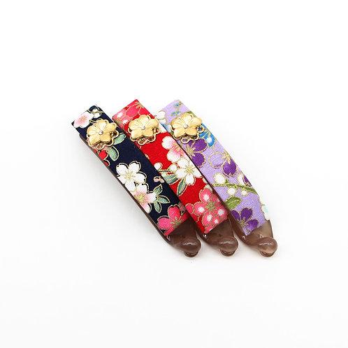 Haru Collection:  Hazel Hair Clip with Gold-plated Sakura
