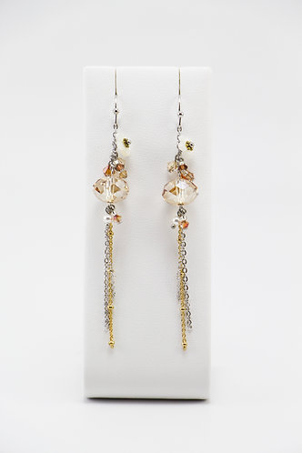The Pinnacles Collection - Golden Shadow & Mother-of-Pearl Earrings