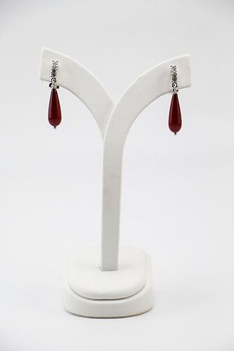 The Pinnacles Collection - Red Shell Teardrop Pearl Earrings