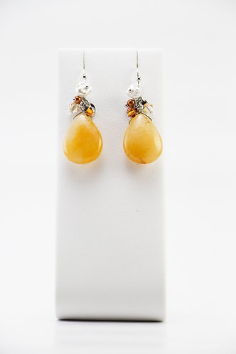 The Pinnacles Collection - Yellow Jade Earrings