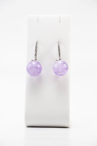 The Pinnacles Collection - Lavender Amethyst Globe Earrings