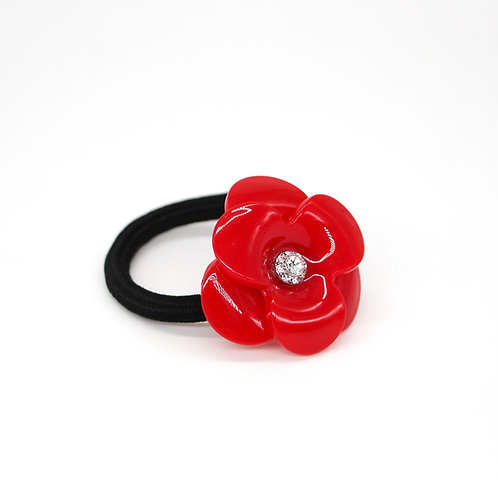 Hair Tie with Large Camellia