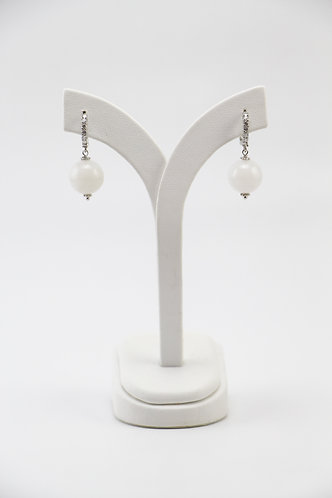 The Pinnacles Collection - White Jade Earrings