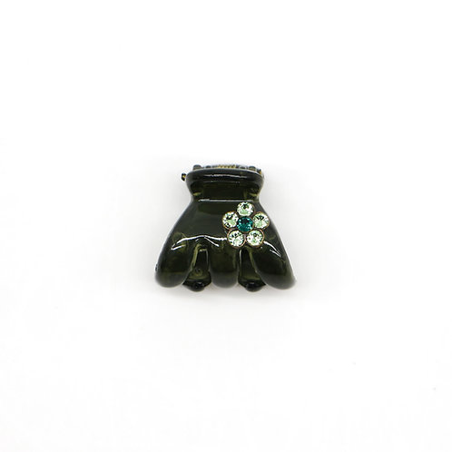 Mini Joella Jaw Clip with Swarovski Crystal Flower