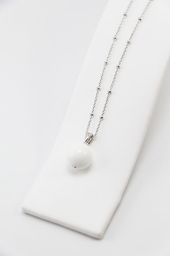 The Pinnacles Collection - White Agate Bead Necklace