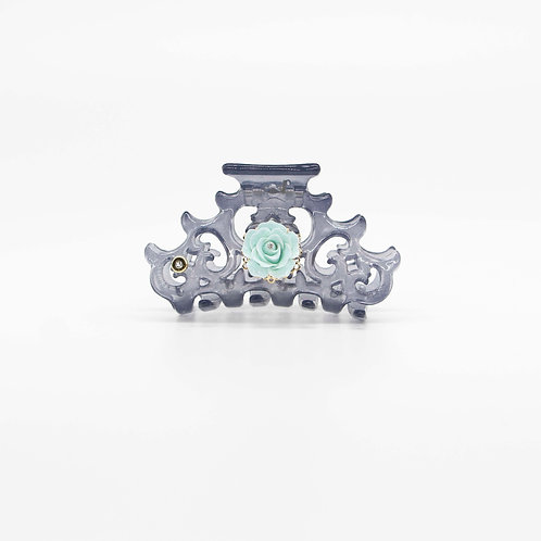 Cora Jaw Clip with Rose (Large)
