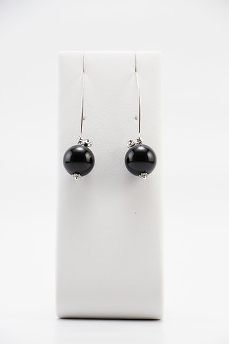 The Pinnacles Collection - Long Onyx Earrings