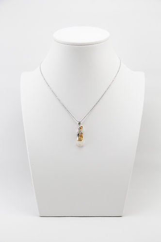 The Pinnacles Collection - Golden Shadow and Crystal Cluster Necklace