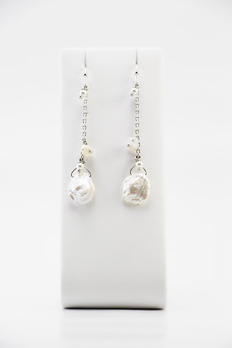 The Pinnacles Collection - Long Keshi Pearl Earrings