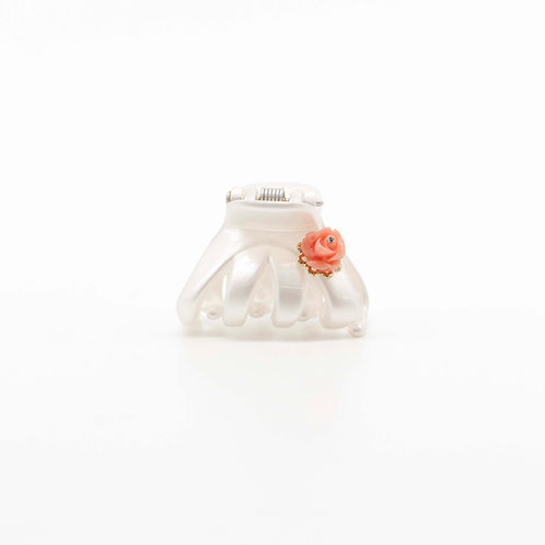 Ella Jaw Clip with Rose Bud (Small)