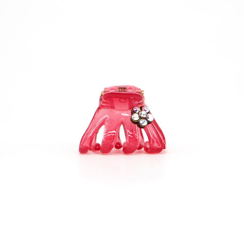 Mini Ella Jaw Clip with Swarovski Crystal Flower