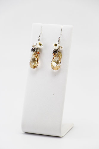 The Pinnacles Collection - Golden Shadow Teardrop Earrings