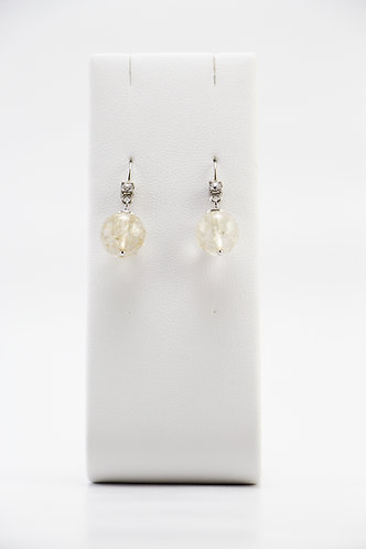 The Pinnacles Collection - Gold Rutilated Quartz Earrings