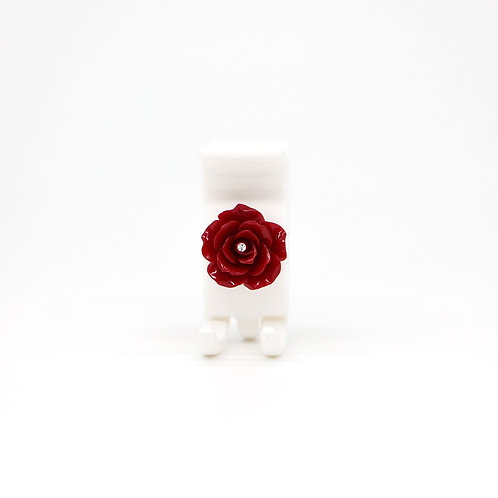 Medium Tessa Jaw Clip with Rose (Neutral Colours)