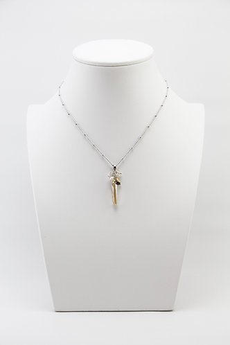 The Pinnacles Collection - Long Golden Shadow Crystal Necklace
