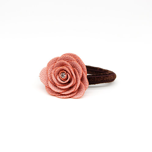 Hair Tie with Large Peony