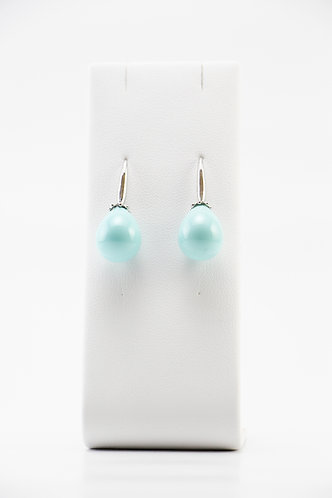 The Pinnacles Collection - Blue Shell Pearl Earrings