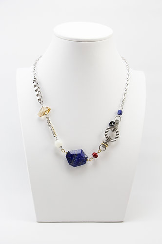 The Pinnacles Collection - Lapis and Onyx Necklace