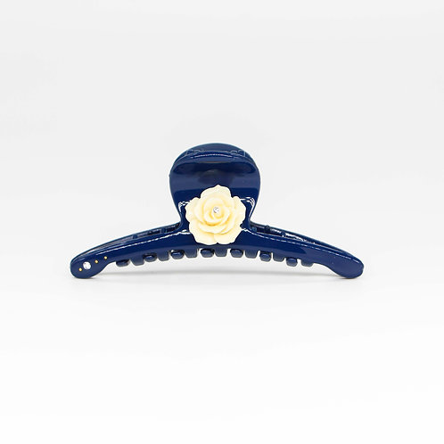 Fedora Jaw Clip with Rose (Large)