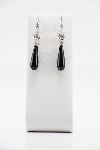 The Pinnacles Collection - Onyx Teardrop Earrings