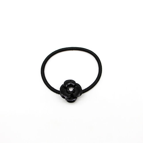 Hair Tie with Small Camellia