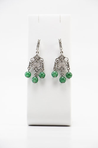 The Pinnacles Collection - Aventurine Chandelier Earrings