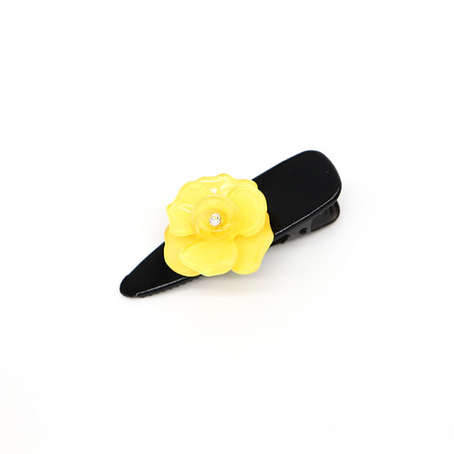 Alice Alligator Clip with Pansy