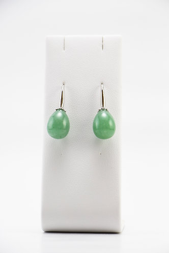 The Pinnacles Collection - Aventurine Teardrop Earrings