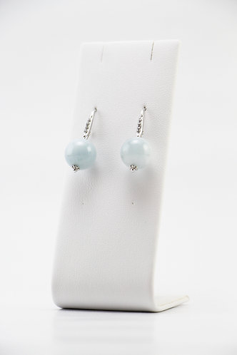 The Pinnacles Collection - Aquamarine Globe Earrings