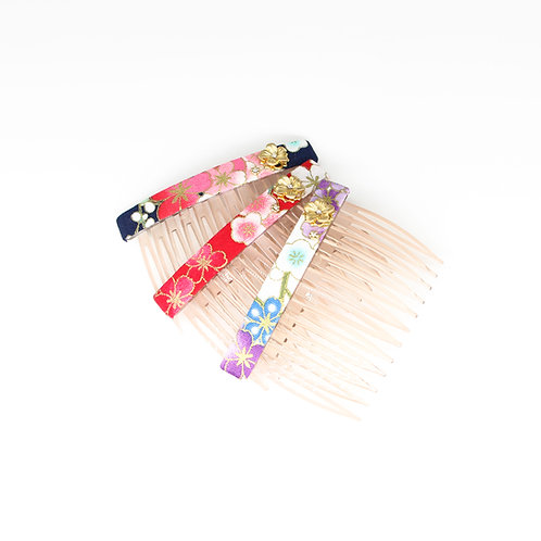 Haru Collection: Side Comb with Gold-plated Sakura