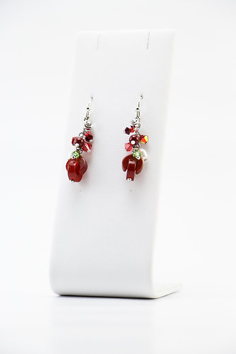 The Pinnacles Collection - Red Agate Earrings