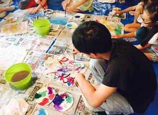 きくがわジュニアアート教室 第3回「アクションペインティング」活動報告