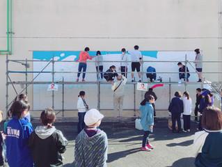 きくがわジュニアアート教室 第3回「ウォールペインティング」