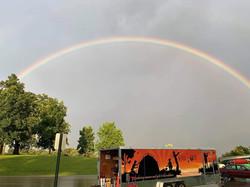 rainbow over trailer