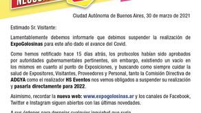 REPROGRAMACIÓN EXPOGOLOSINAS 2022
