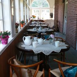 Enjoy afternoon tea & the garden