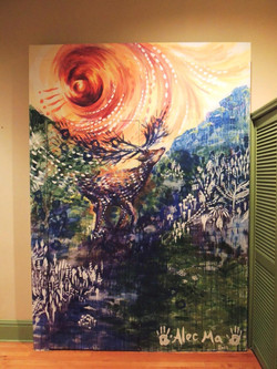 Mural painting in Mountain Room