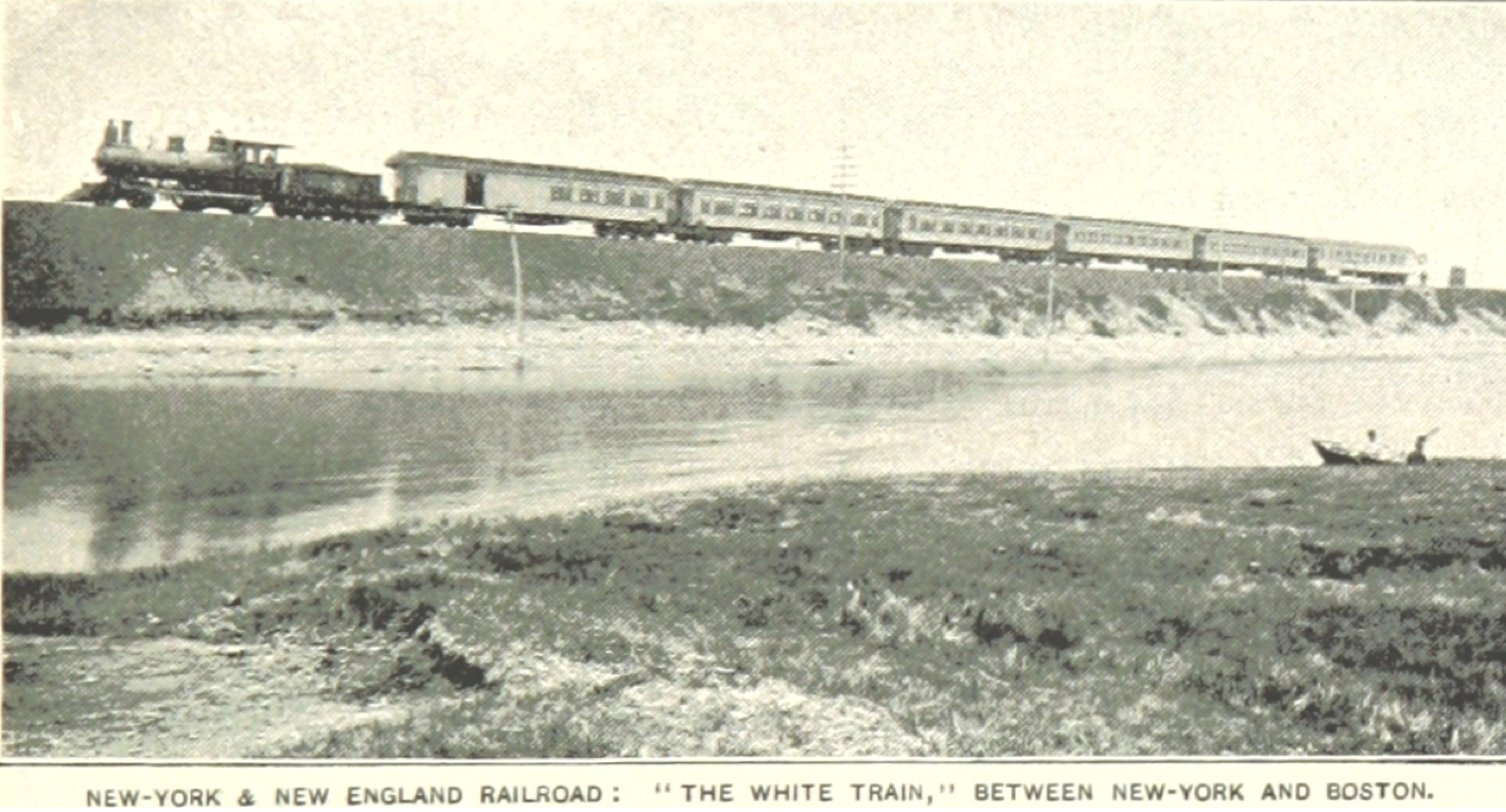 Train between NYC & Boston 1890