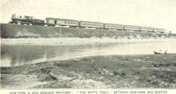Train between NYC & Boston 1890