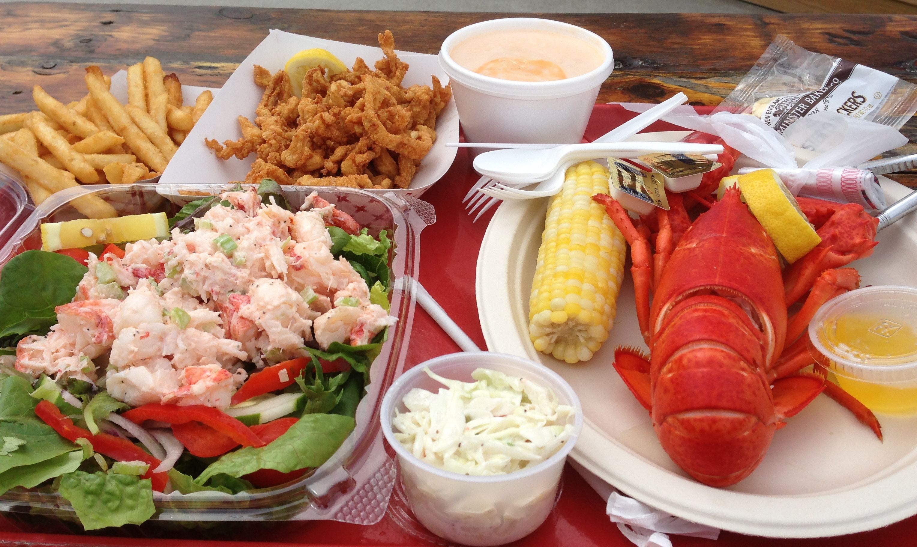 Lobster feast at New London
