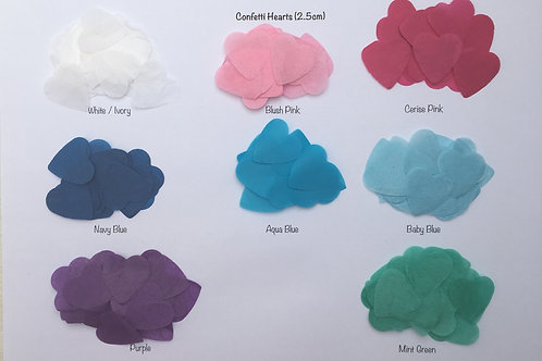 Sachets of Heart Confetti - choose from our range of colours!