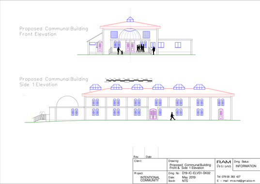 COMMUNAL  BUILDING 1 - 2D DRAWING