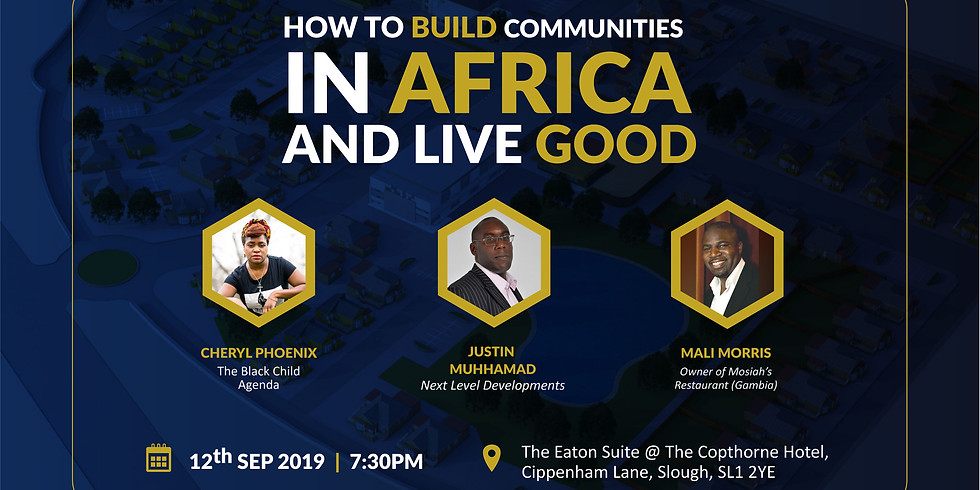 HOW TO BUILD COMMUNITIES IN AFRICA AND LIVE GOOD!