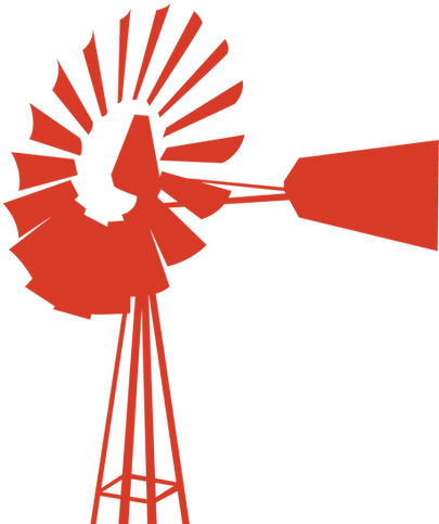 Orange Windmill Graphic