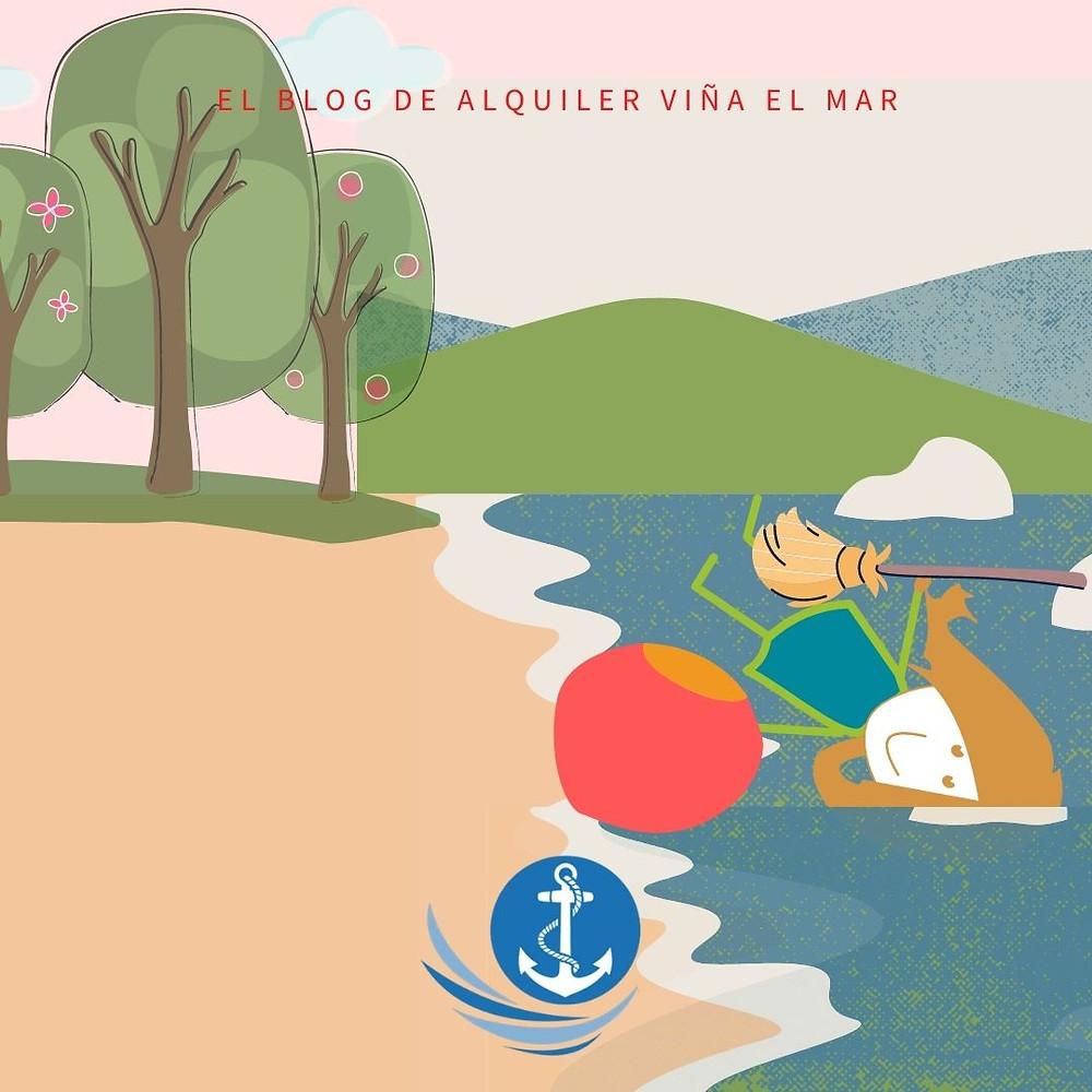 dibujos, alquiler viña del mar , logo