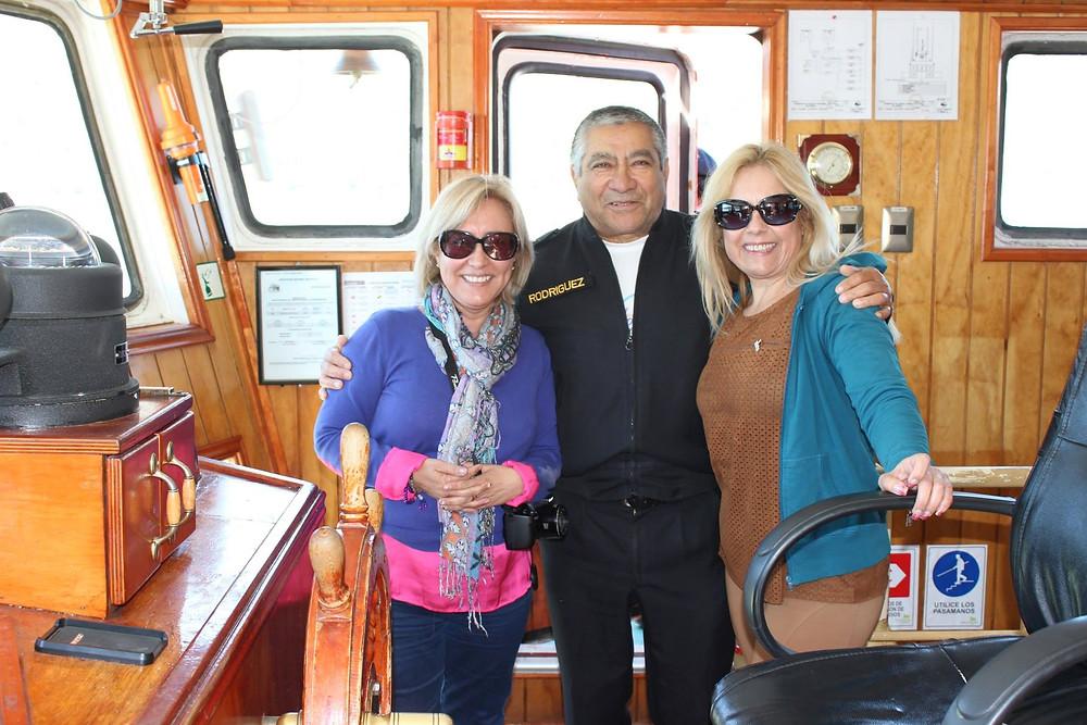 Con el Capitan al Glaciar O'Higgins Patagonia Condesa de Mar