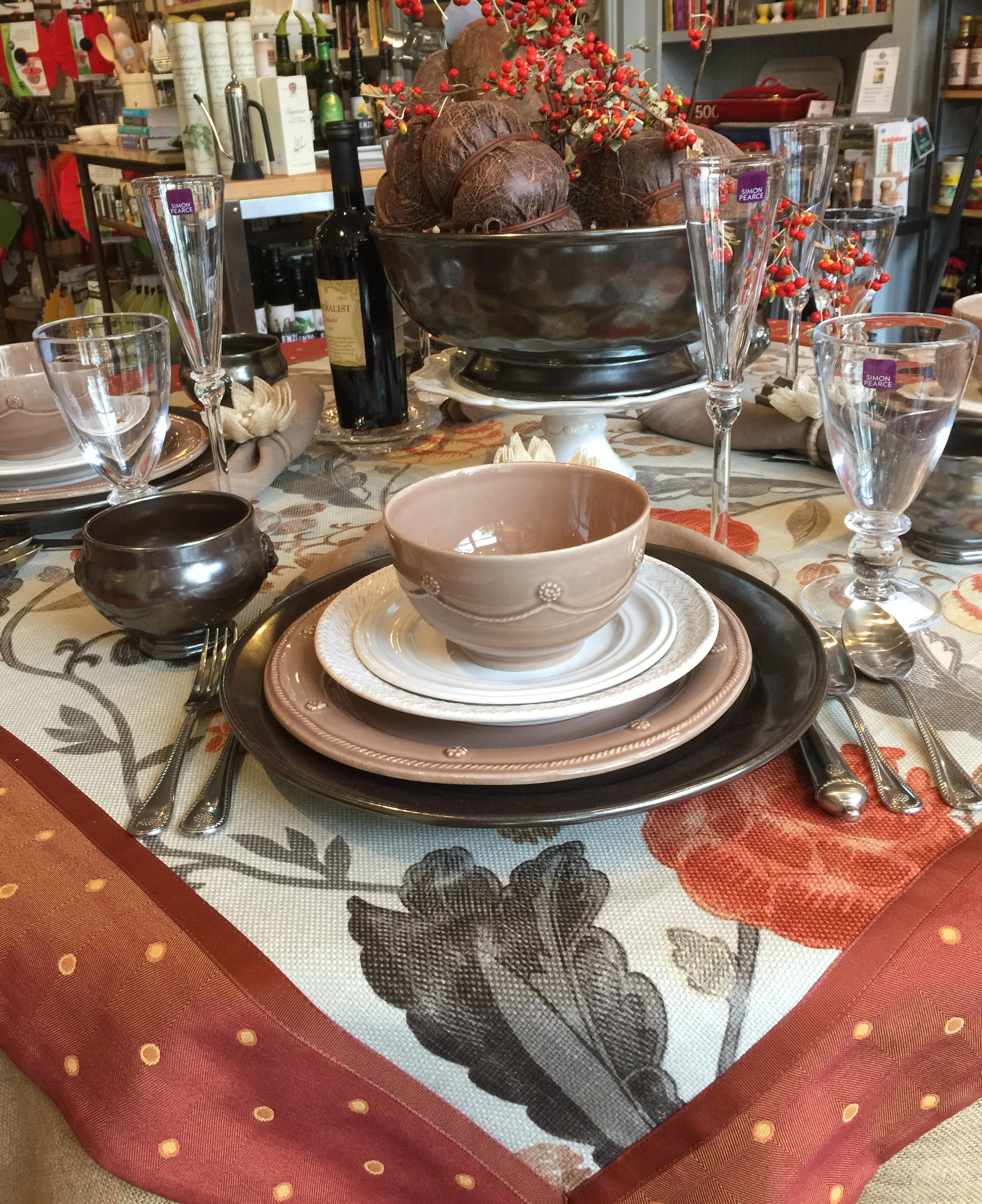 Fall Tablescape at Marcel's Culinary