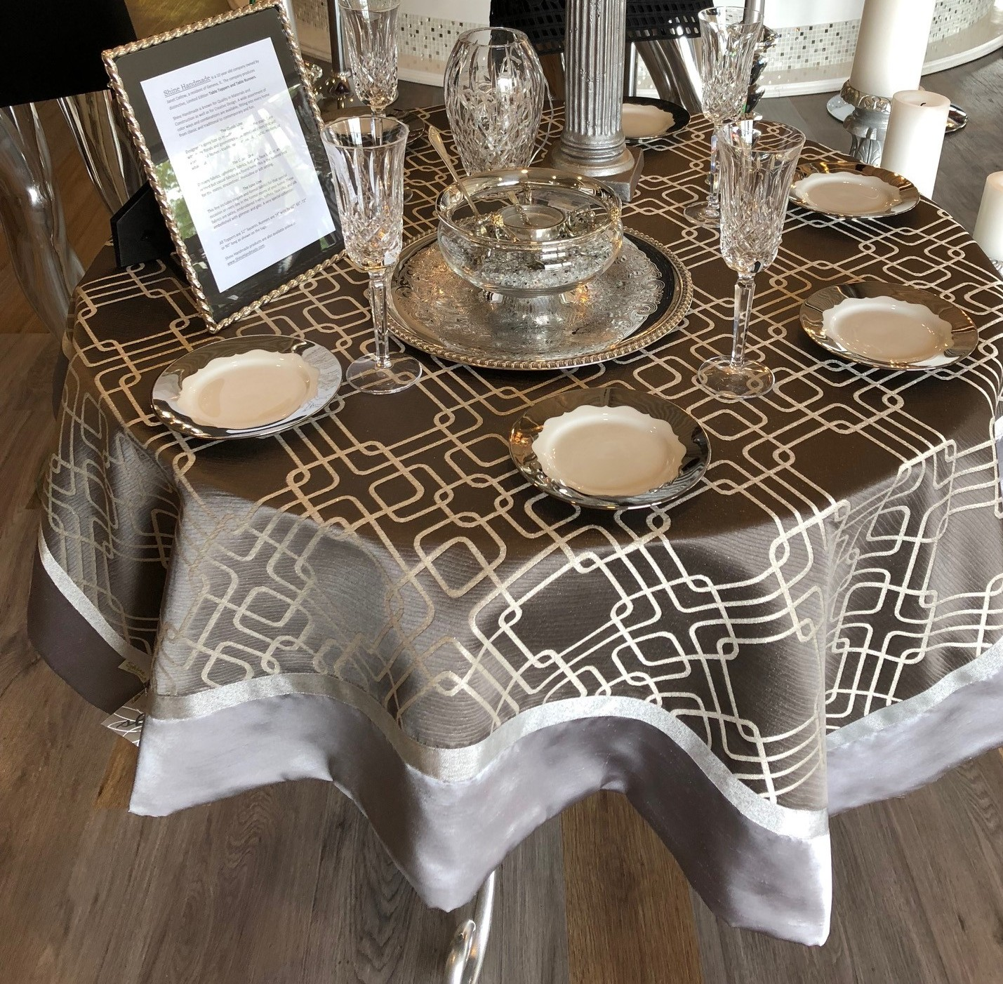 Gray Luxe Table Topper